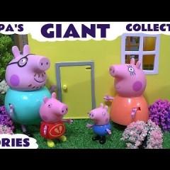 Giant Peppa Pig Story Video Play Doh English Episodes | Thomas The Train Surprise Eggs Pepa Toys